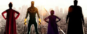 Vier Ongebruikte Kick-Ass Posters