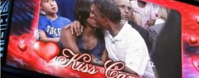 Obama Op De Kiss Cam