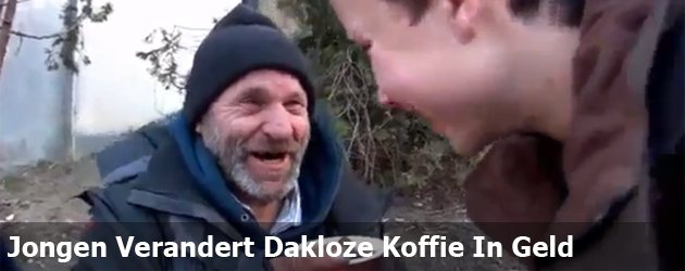 Jongen Verandert Dakloze Koffie In Geld