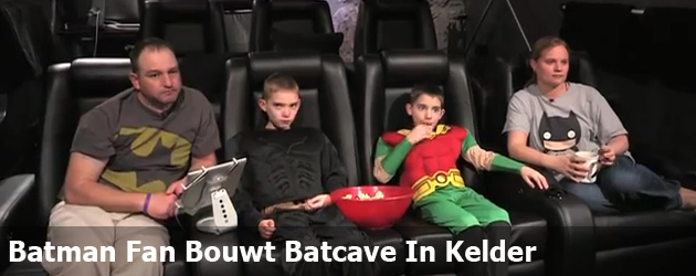 Batman Fan Bouwt Batcave In Kelder