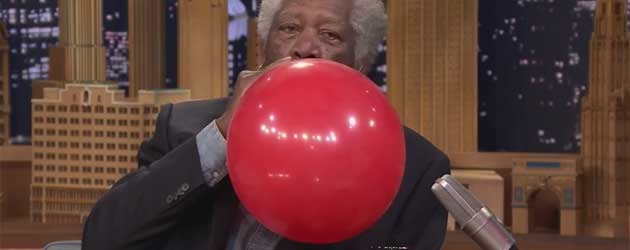 Morgan Freeman Aan De Helium Ballon