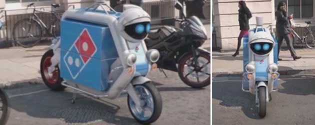 1 April: De Domino's Pizza Scooter Robot