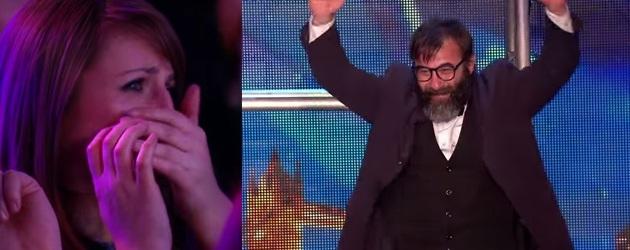 PrutsFM.nl Gevalletje, dat verwacht je niet. De vrolijke baard Vladimir Georgievsky doet mee aan Britain's Got Talent. In het begin heb je geen idee wat hij gaat doen. Gaan we ook niet vertellen, moet je het filmpje maar kijken. Na afloop staat het hele publiek te joelen en te juichen en is de jury is zwaar onder de indruk.
