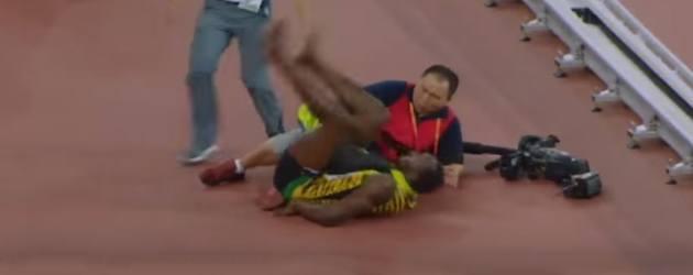 Segway Cameraman Botst Usain Bolt Omver