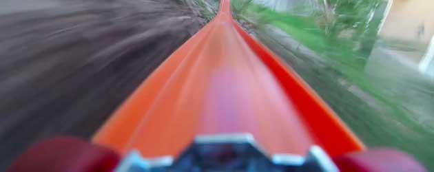 Hele Lange Hot Wheels Rollercoaster