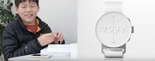 De Aller Eerste Braille Smartwatch Is Een Feit
