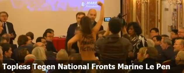 Topless Tegen National Fronts Marine Le Pen