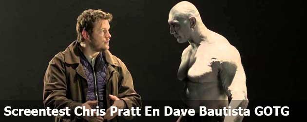 Screentest Chris Pratt en Dave Bautista voor Guardians of the Galaxy