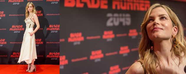 De Mooie Sylvia Hoeks op de Blade Runner 2049 photocall