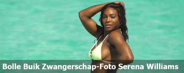 De bolle buik zwangerschap-foto van Serena Williams