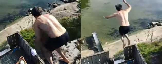 De Waterglijbaan Sprong Die Je Niet Verwacht