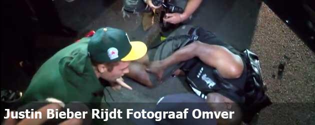 Justin Bieber Rijdt Fotograaf Omver