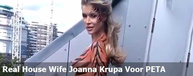 Real House Wife Joanna Krupa Voor PETA