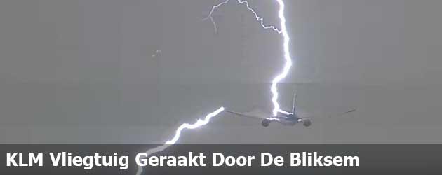 KLM Vliegtuig Geraakt Door De Bliksem