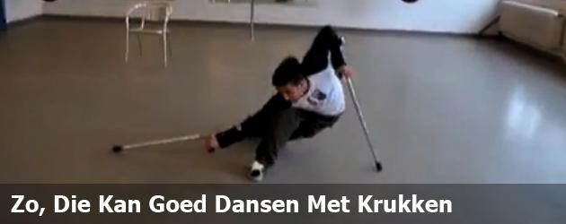 Zo, Die Kan Goed Dansen Met Krukken!