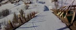 Voor De Eerste Keer Van Skischans