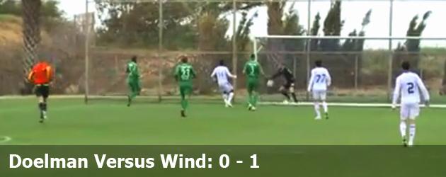 Doelman Versus Wind: 0 - 1