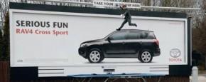 Toyota Trampoline Billboard