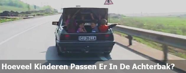 Hoeveel Kinderen Passen Er In De Achterbak?
