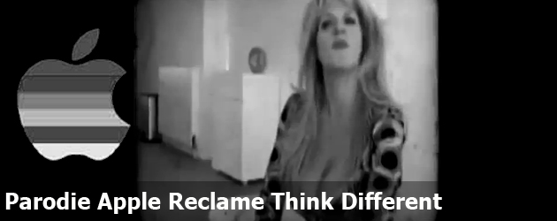Parodie Apple Reclame Think Different