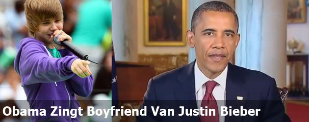 Obama Zingt Boyfriend Van Justin Bieber