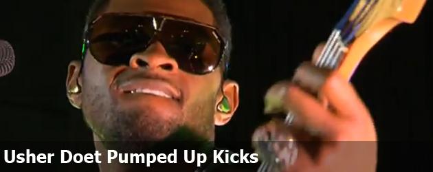 Usher Doet Pumped Up Kicks