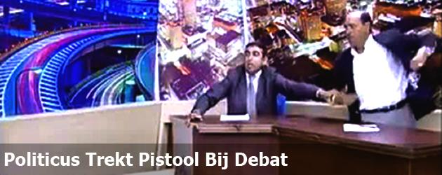 Politicus Trekt Pistool Bij Debat