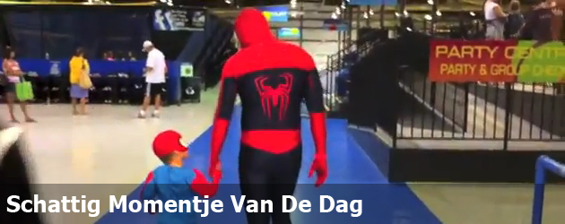 Schattig Momentje Van De Dag; Spider-man vader & Spider-man zoon