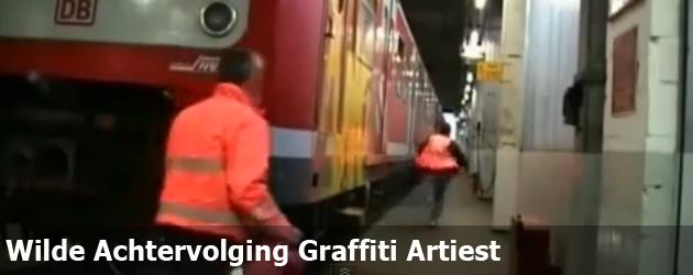 Wilde Achtervolging Graffiti Artiest