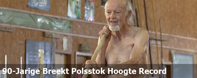 90-Jarige Breekt Polsstok Hoogte Record