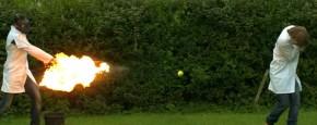 Vurige Tennisballen