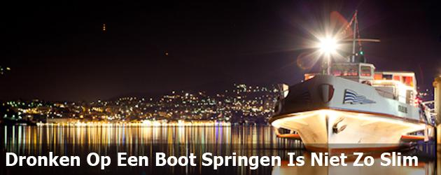 Dronken Op Een Boot Springen Is Niet Zo Slim