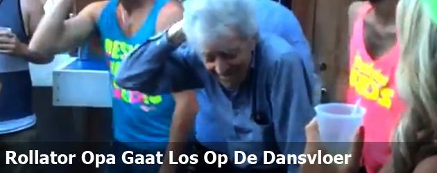 Rollator Opa Gaat Los Op De Dansvloer