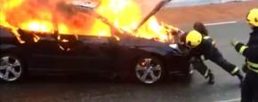 Stop De Brandende Rijdende Auto!