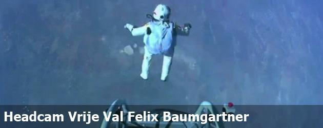 Beelden Headcam Vrije Val Felix Baumgartner
