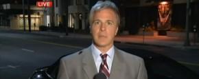 Kakkerlak Op Verslaggever Op Live TV