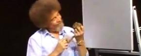 Schattig Momentje Van De Dag: Bob Ross Voert Een Eekhoorn