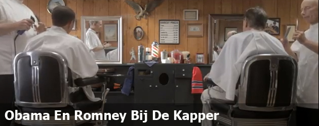 Obama En Romney Bij De Kapper