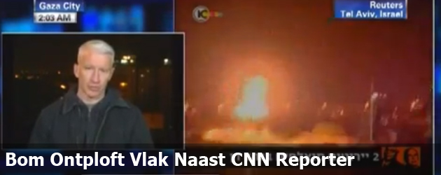 Bom Ontploft Naast CNN Reporter