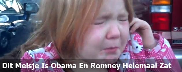 Dit Meisje Is Obama En Romney Helemaal Zat