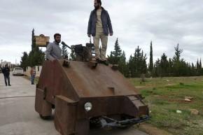 De Syrische Playstation Rebellen Tank
