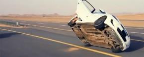 Autoband Verwisselen Tijdens Het Rijden