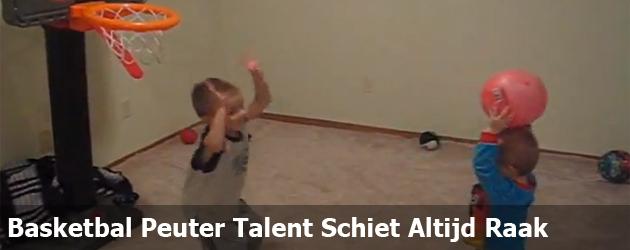 Basketbal Peuter Talent Schiet Altijd Raak