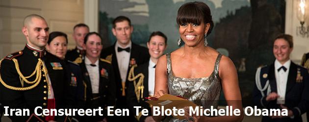 Iran Censureert Een Te Blote Michelle Obama