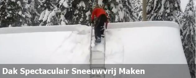 Dak Spectaculair Sneeuwvrij Maken