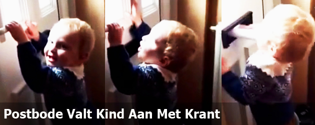 Postbode Valt Kind Aan Met Krant