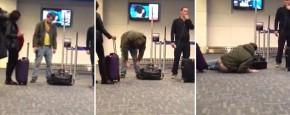 Straalbezopen Op Het Vliegveld