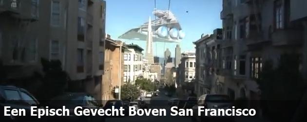 Een Episch Gevecht Boven San Francisco