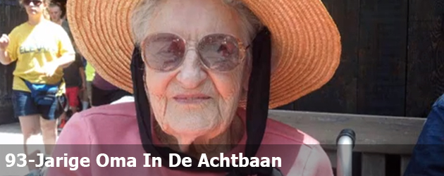 93-Jarige Oma In De Achtbaan