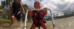 Baby Kan Nog Niet Lopen Maar Wel Waterskiën